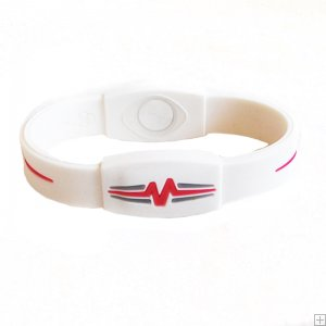 "Mojo Wristband Elite Double Holographic | 7"" White - Red - Blue"