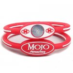 "Mojo Wristband Elite Double Holographic | 8"" Pink - White - Grey"