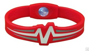 Mojo Wristband Raptor Double holographic | 8 inch Red - White - Grey