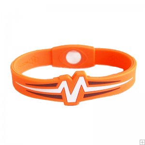 Mojo Wristband Raptor Double holographic | 8 inch Orange - White - Black