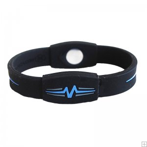 "Mojo Wristband Elite Double Holographic | 7"" Black - Blue - Grey"