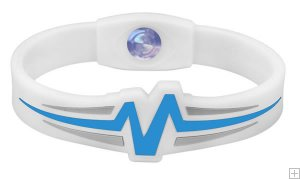 Mojo Wristband Raptor Double holographic | 8 inch White - Blue - Grey