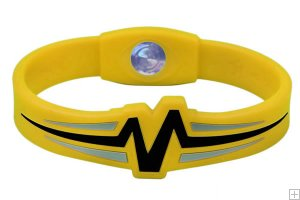 Mojo Wristband Raptor Double holographic | 8 inch Yellow - Black - Grey