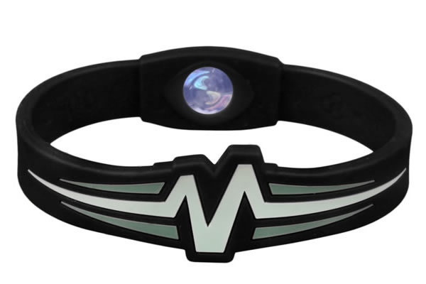 Mojo Wristband Raptor Double holographic | 7 inch Black - White - Grey - Click Image to Close