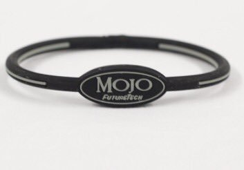 Mojo Wristband Single holographic | 8 inch Black - Grey - Click Image to Close