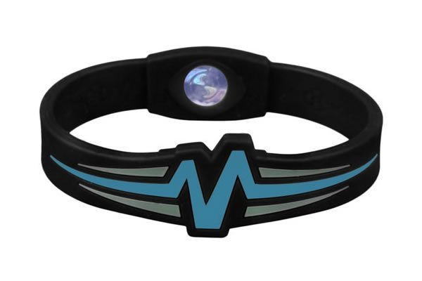 Mojo Wristband Raptor Double holographic | 7 inch Black - Blue - Grey - Click Image to Close