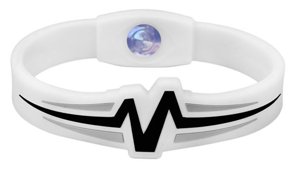 Mojo Wristband Raptor Double holographic | 8 inch White - Black - Grey - Click Image to Close