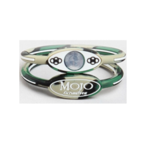 Mojo Wristband Single holographic | 6 inch Camouflage - Click Image to Close