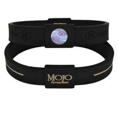 Mojo Wristband Max Double holographic | 9 inch Black/Grey - Click Image to Close